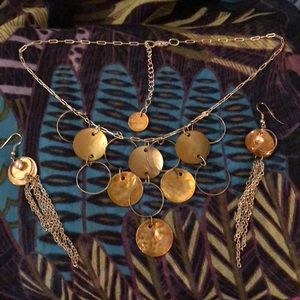 Jewelry - Mother of Pearl Necklace and Earrings